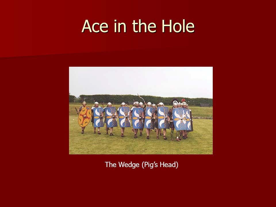 Ace in the Hole The Wedge (Pig's Head)