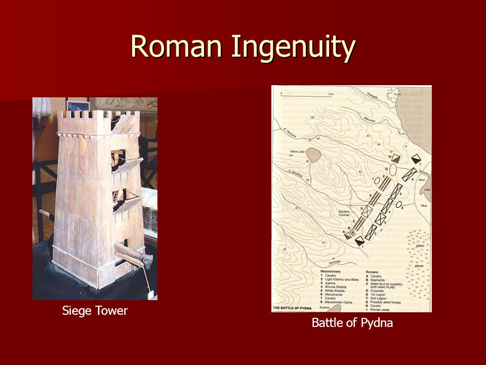 Roman Ingenuity Siege Tower Battle of Pydna