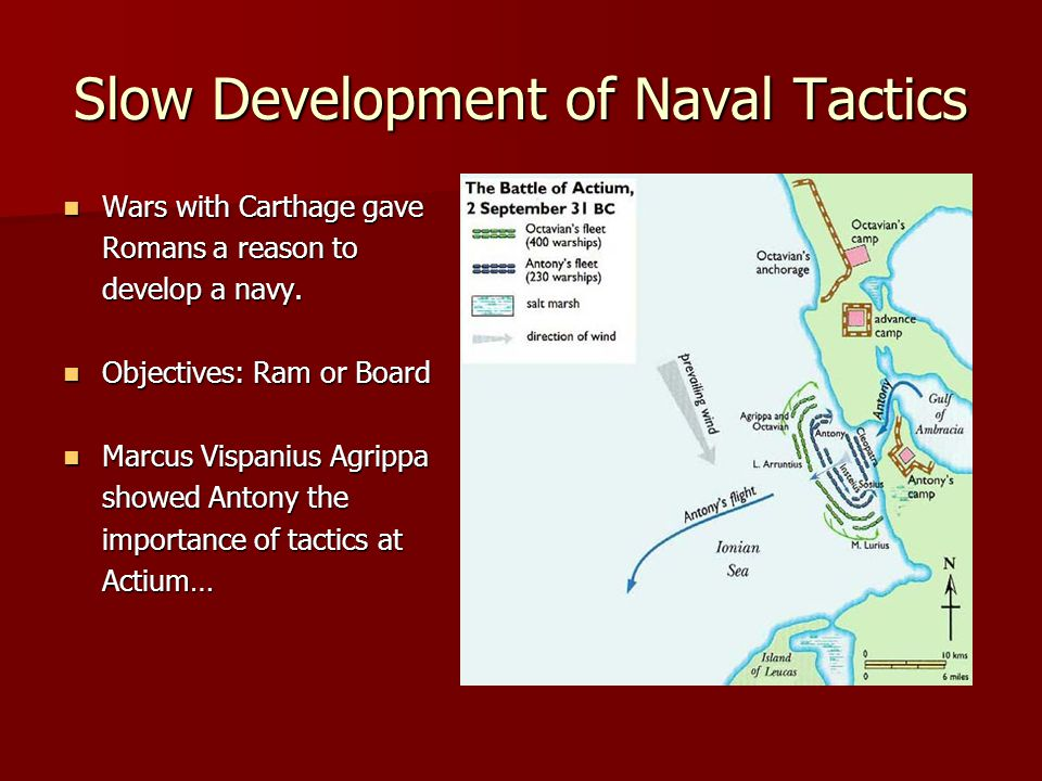 Slow Development of Naval Tactics