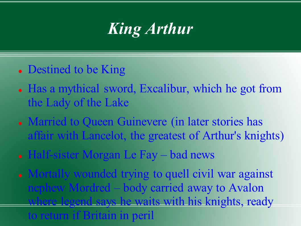 King Arthur Destined to be King