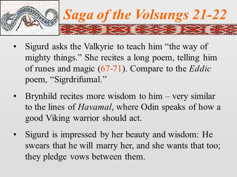 Saga of the Volsungs 21-22