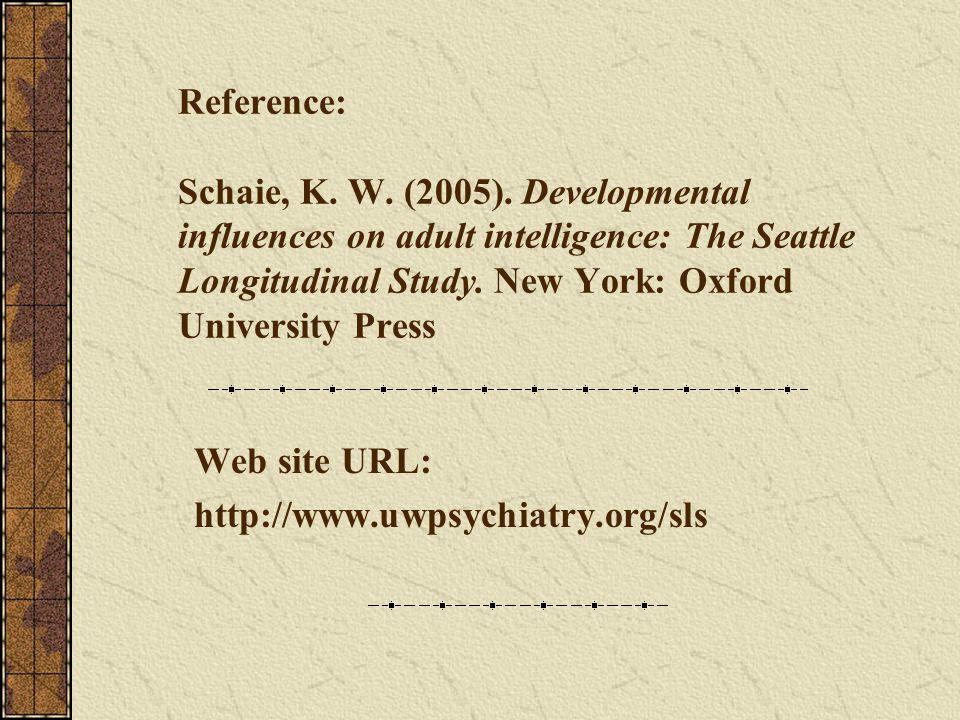 Web site URL: http://www.uwpsychiatry.org/sls