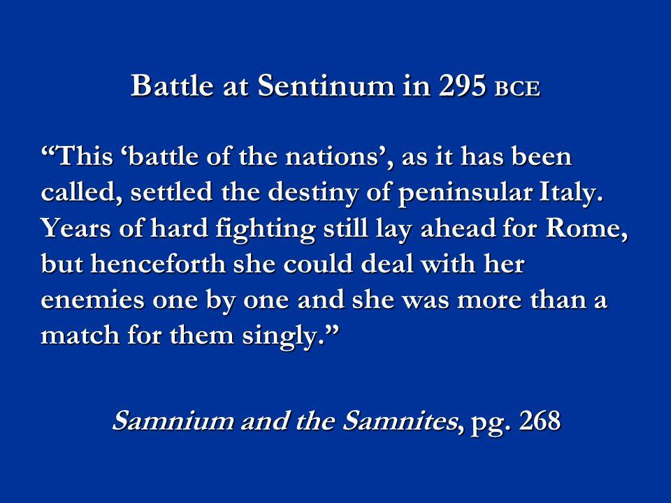 Battle at Sentinum in 295 BCE
