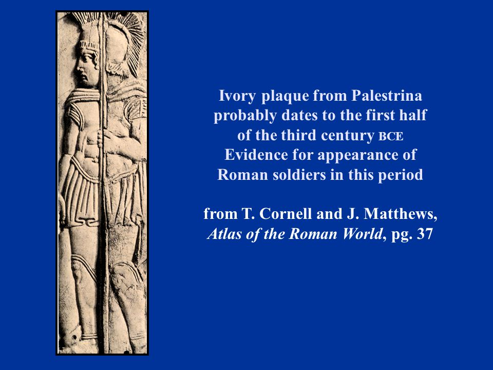 Ivory plaque from Palestrina probably dates to the first half