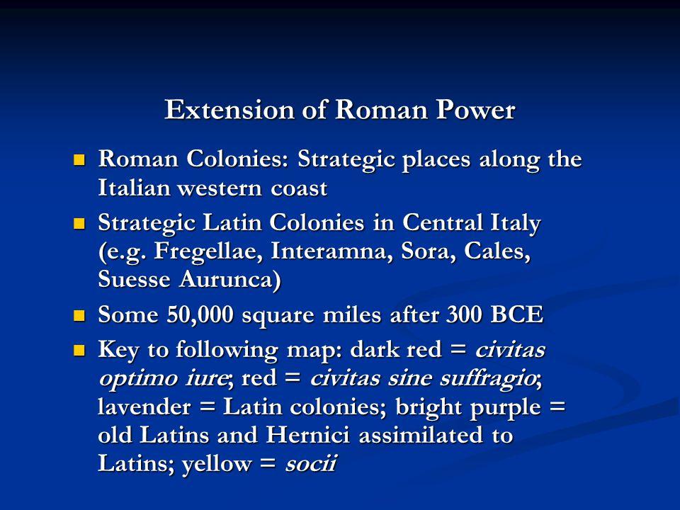 Extension of Roman Power