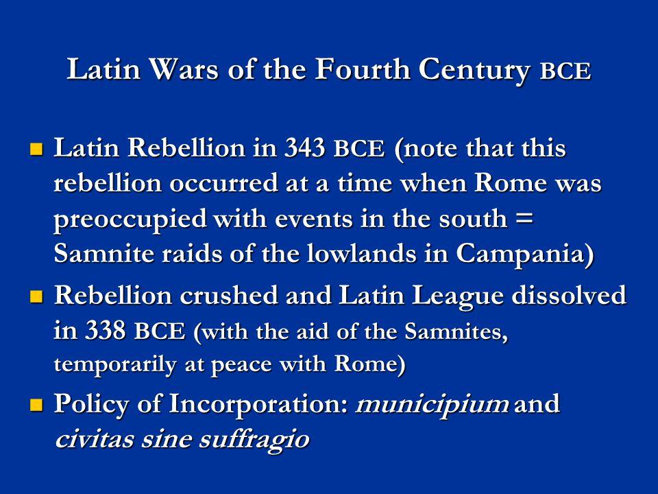 Latin Wars of the Fourth Century BCE