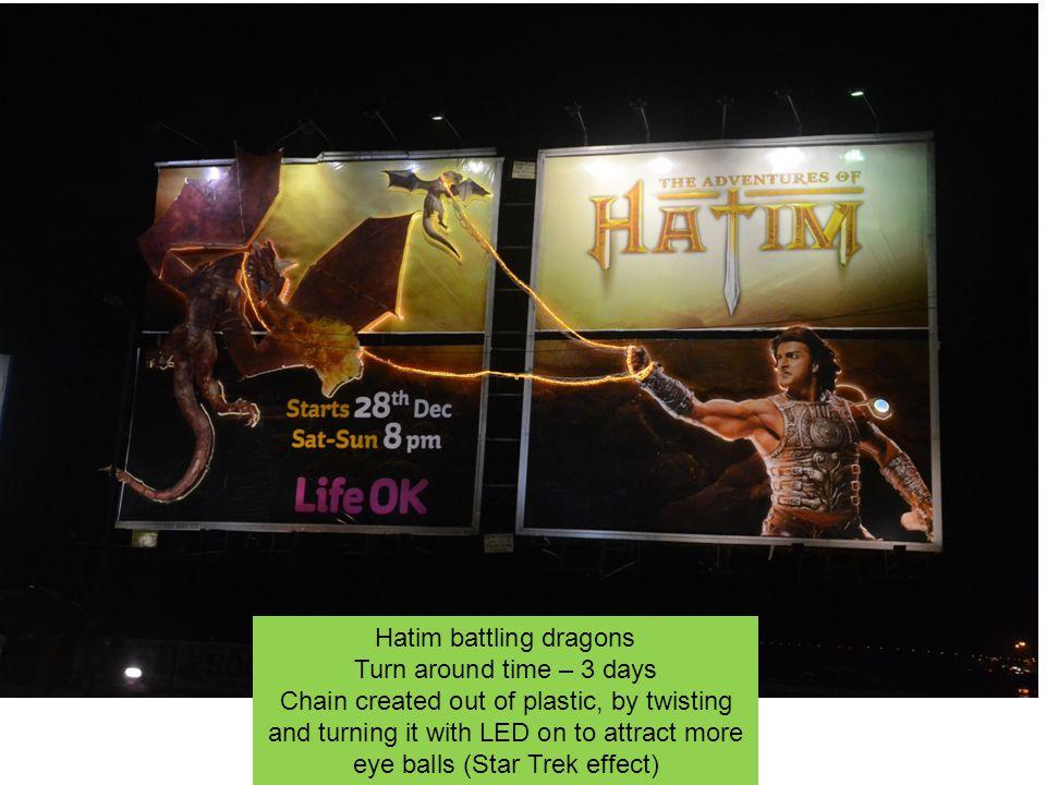 Hatim battling dragons