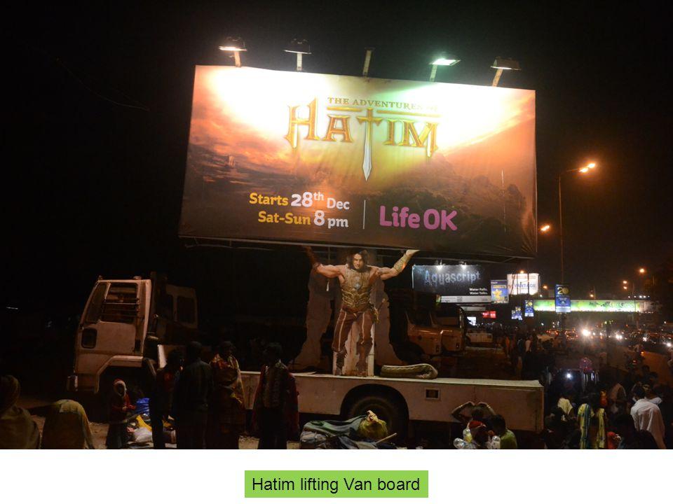 Hatim lifting Van board