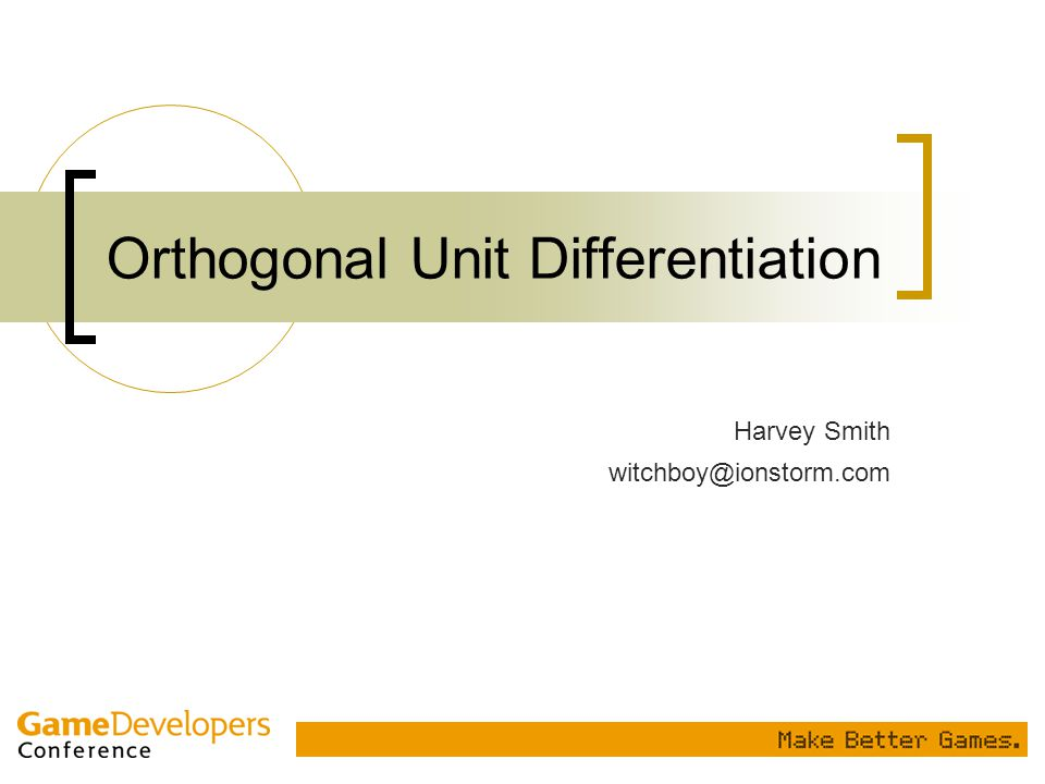 Orthogonal Unit Differentiation