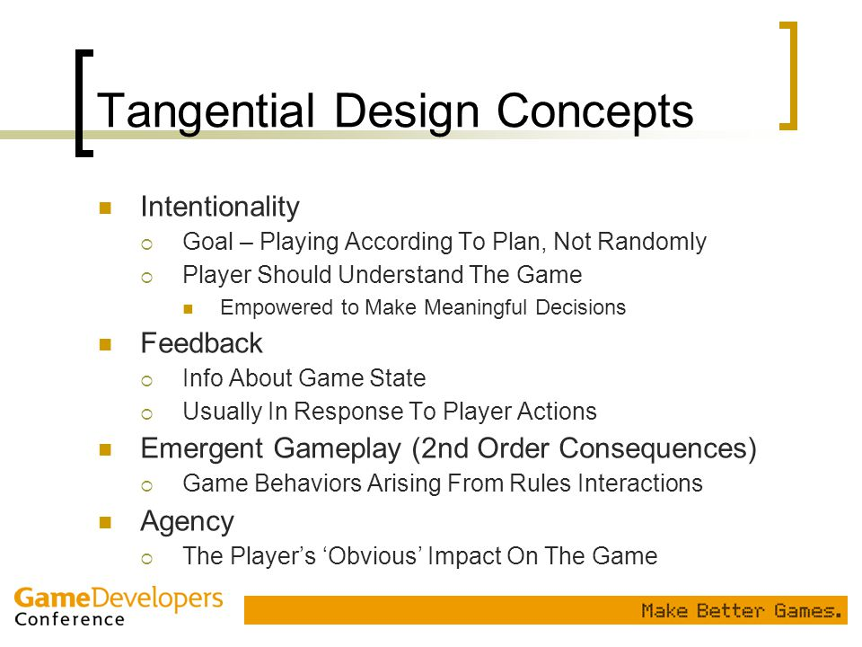 Tangential Design Concepts