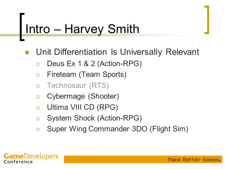 Intro – Harvey Smith Unit Differentiation Is Universally Relevant