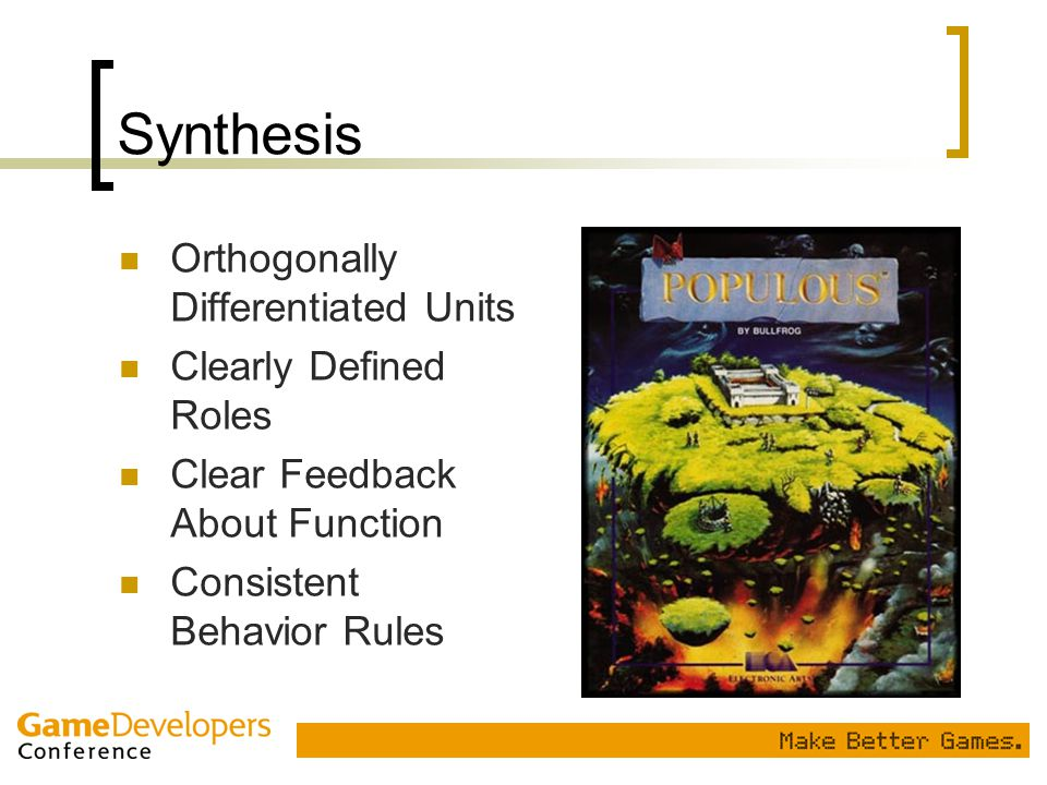 Synthesis Orthogonally Differentiated Units Clearly Defined Roles