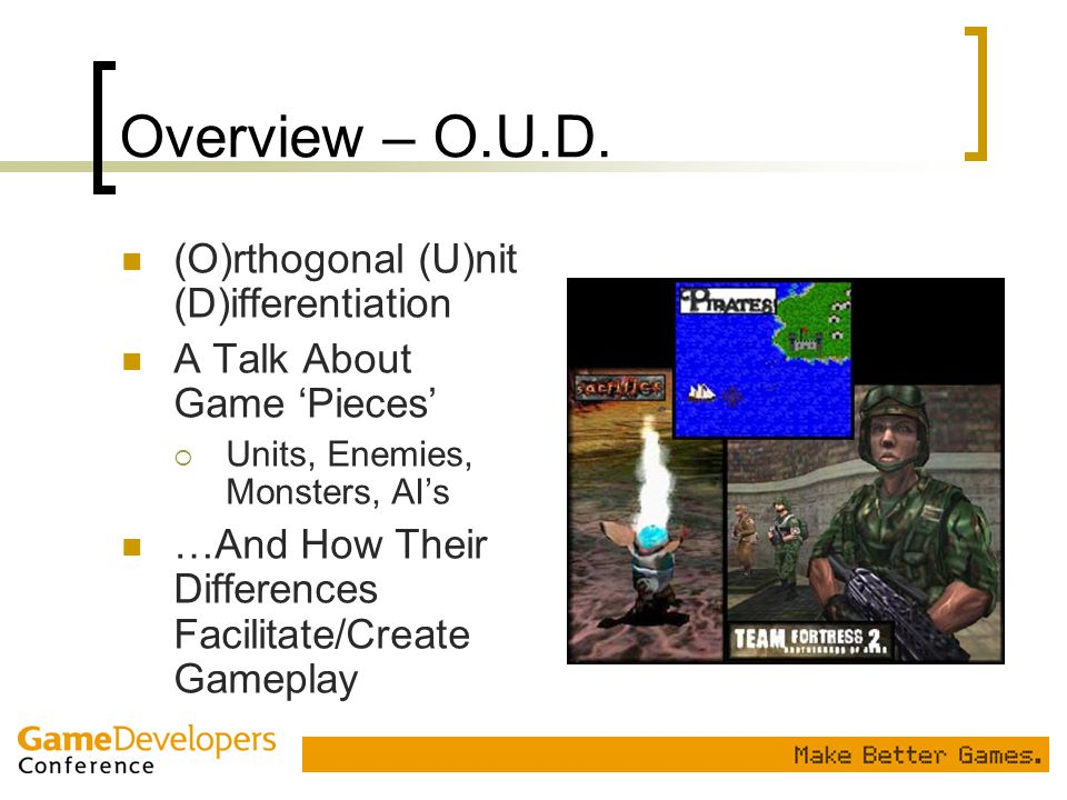 Overview – O.U.D. (O)rthogonal (U)nit (D)ifferentiation