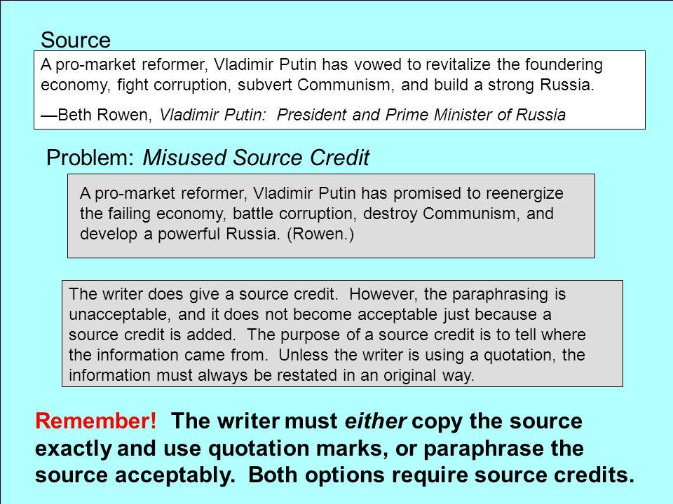 Problem: Misused Source Credit