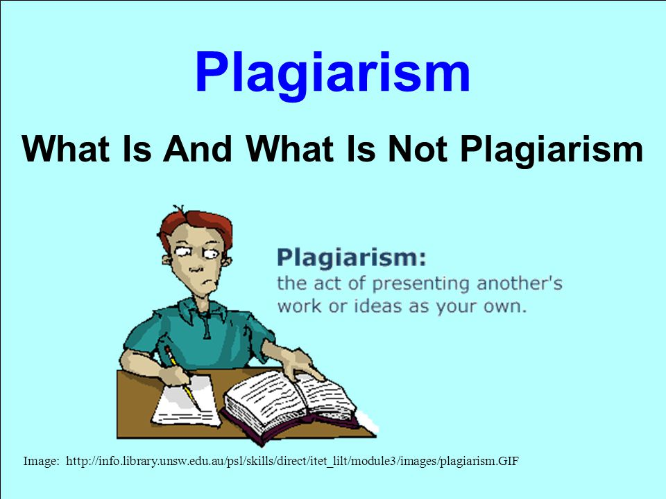 What Is And What Is Not Plagiarism