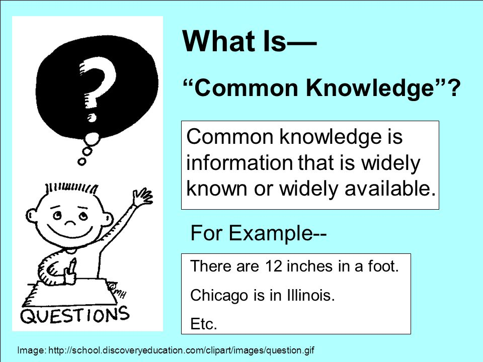 What Is— Common Knowledge