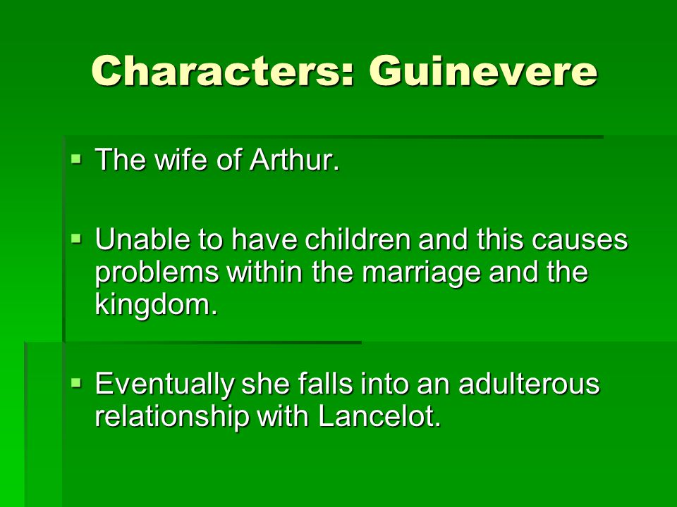 Characters: Guinevere