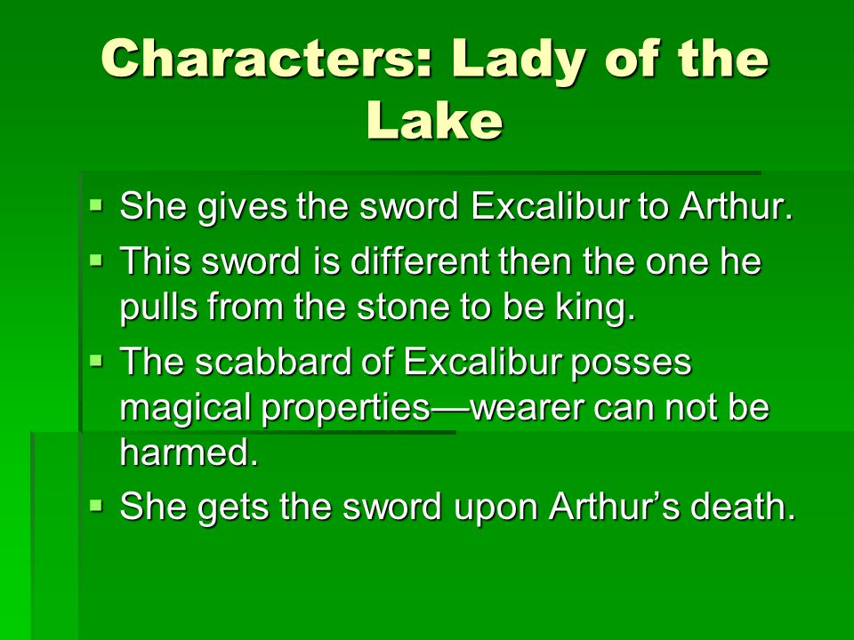 Characters: Lady of the Lake