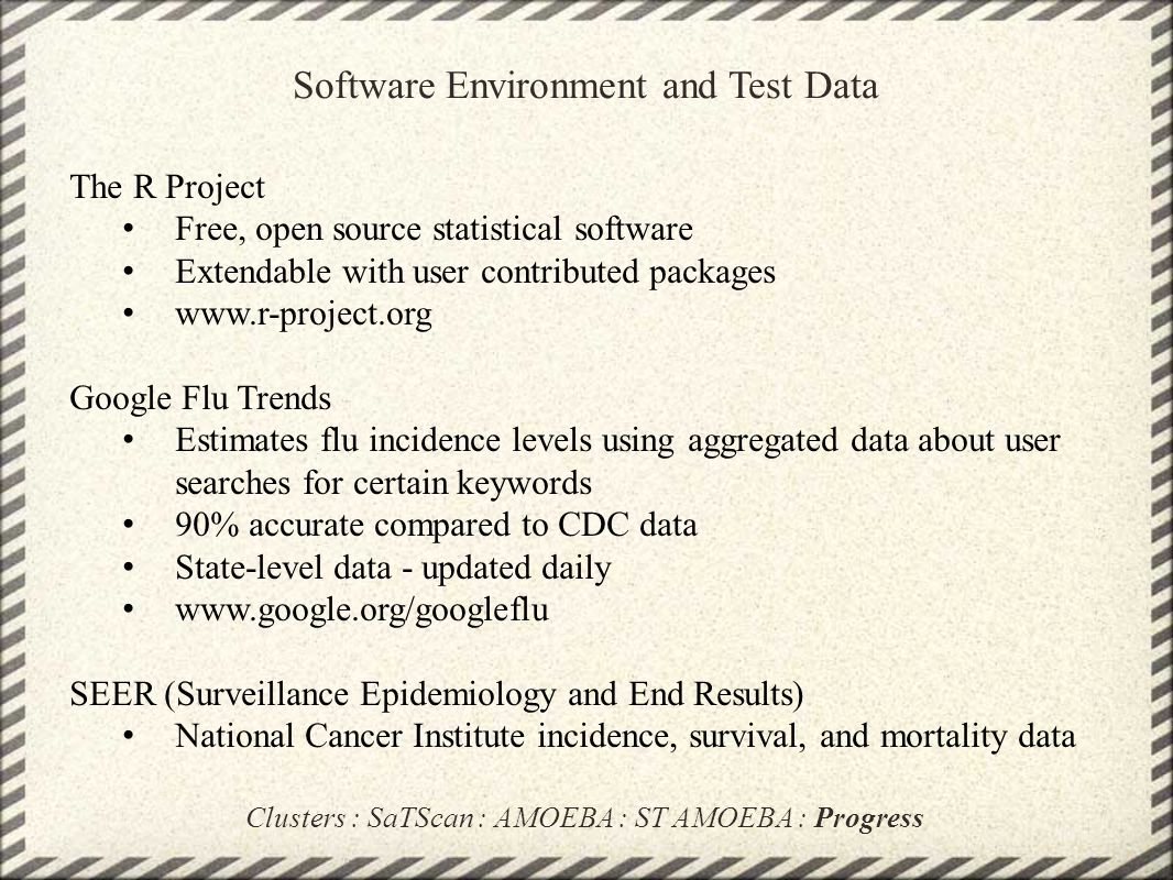 Software Environment and Test Data