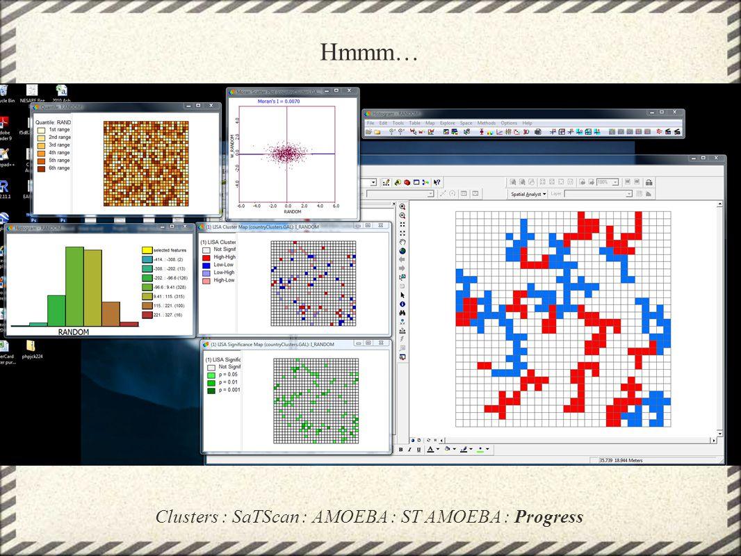 Clusters : SaTScan : AMOEBA : ST AMOEBA : Progress