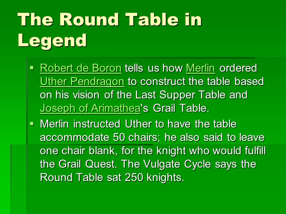 The Round Table in Legend