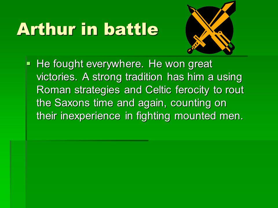 Arthur in battle