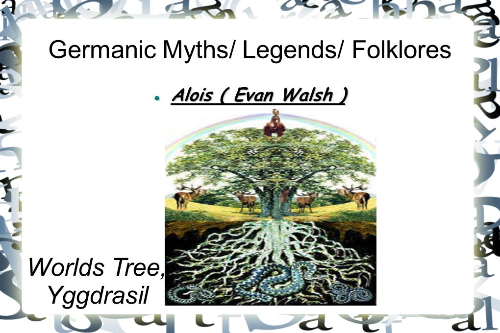 Germanic Myths/ Legends/ Folklores
