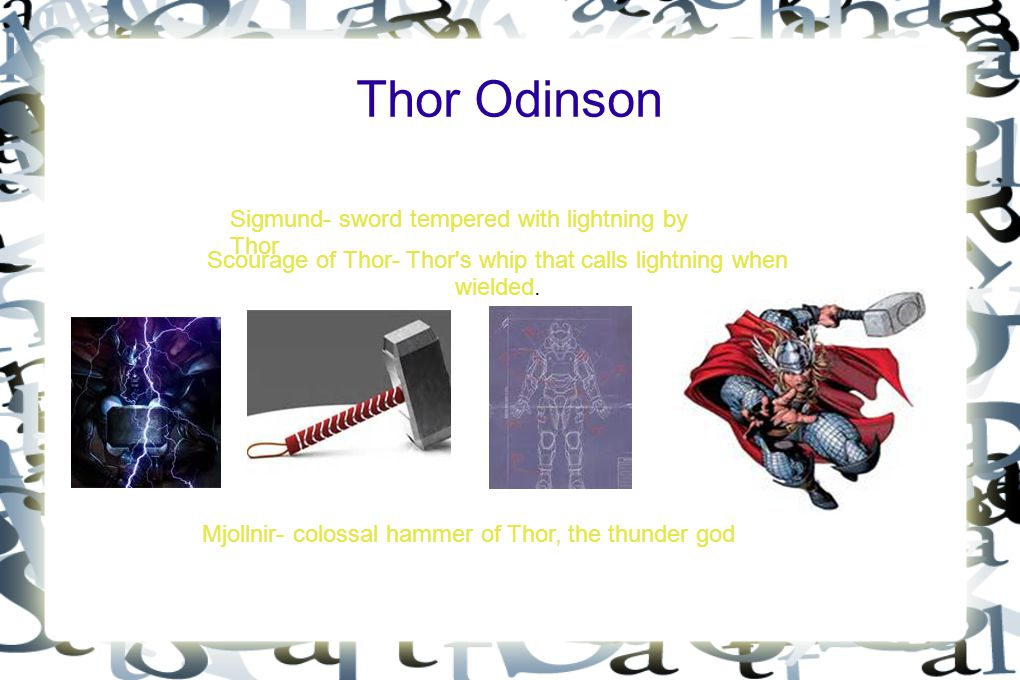 Thor Odinson Sigmund- sword tempered with lightning by Thor