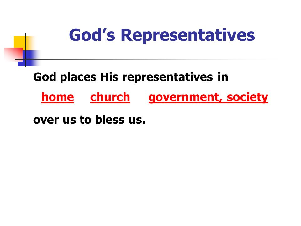 God's Representatives