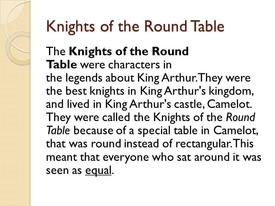 Arthurian legends what you should know ppt download for 12 knights of the round table characters