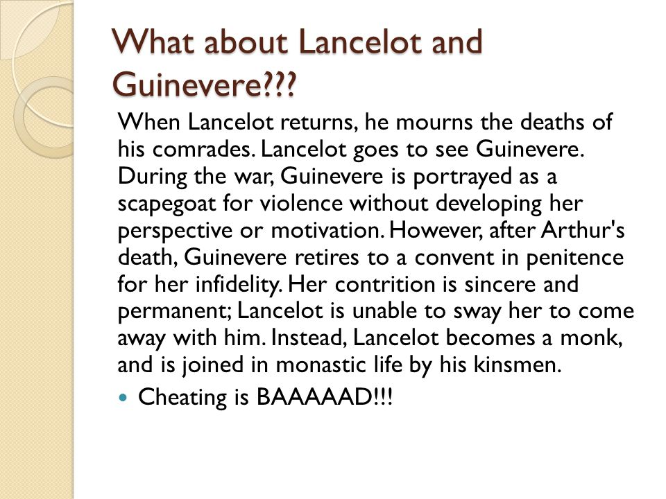 What about Lancelot and Guinevere