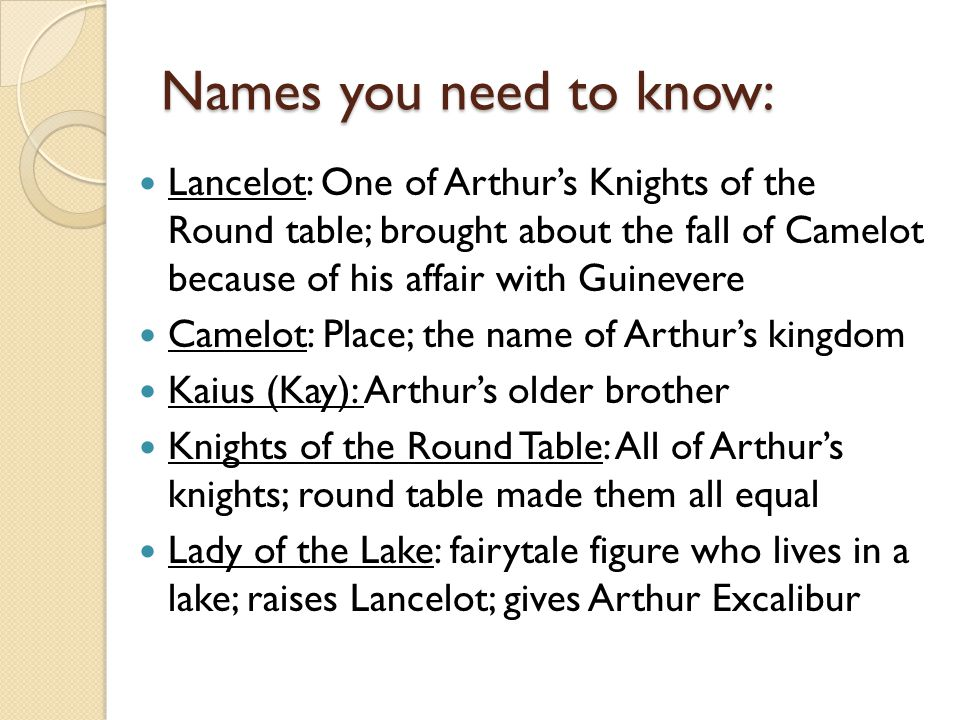 Arthurian Legends What You Should Know Ppt Download