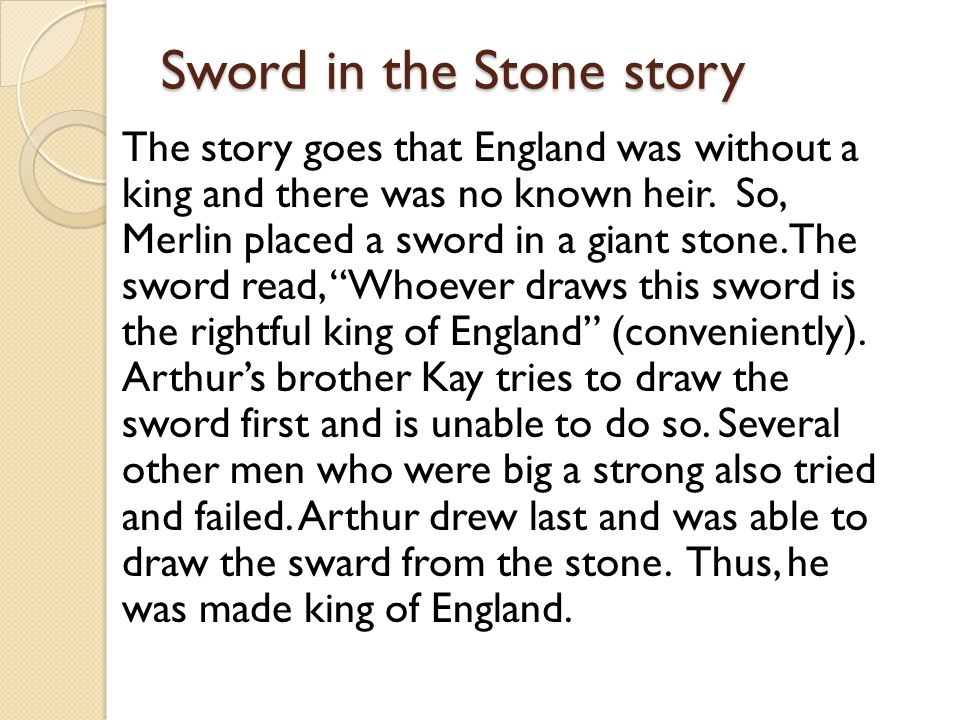 Sword in the Stone story