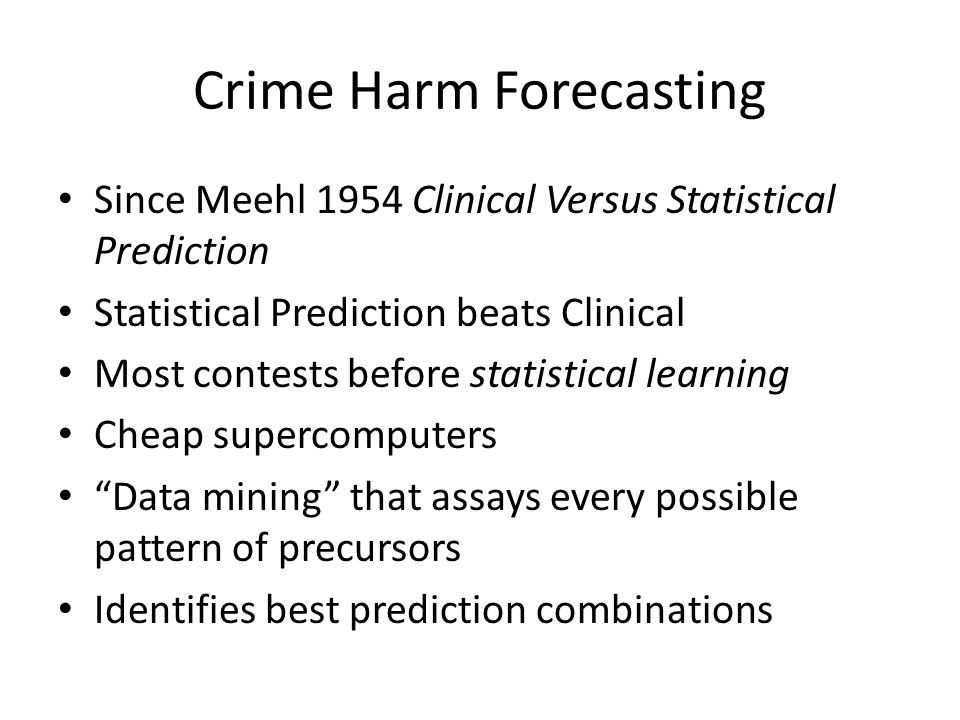 Crime Harm Forecasting