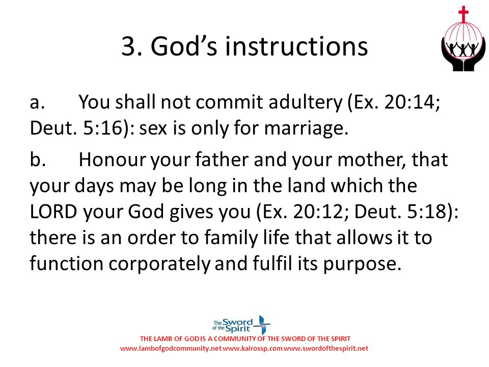 3. God's instructions