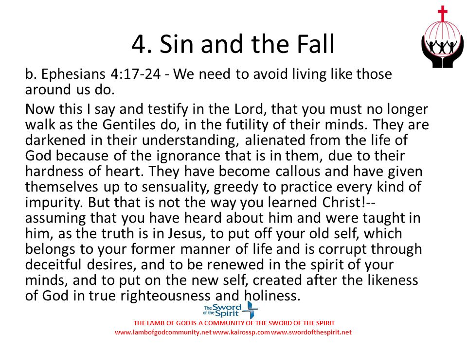4. Sin and the Fall