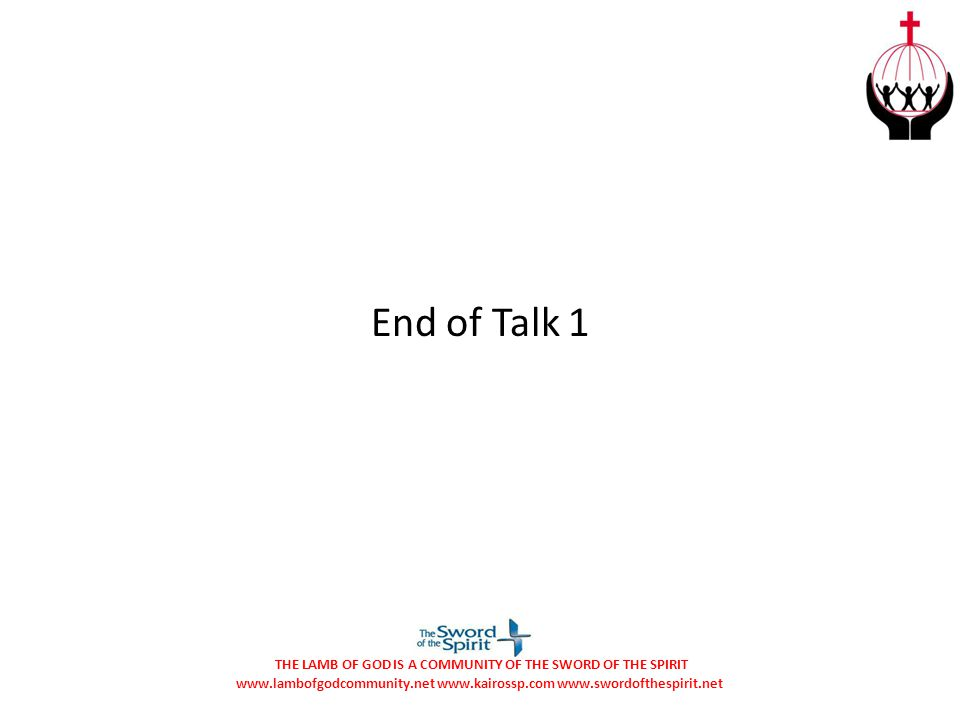 End of Talk 1