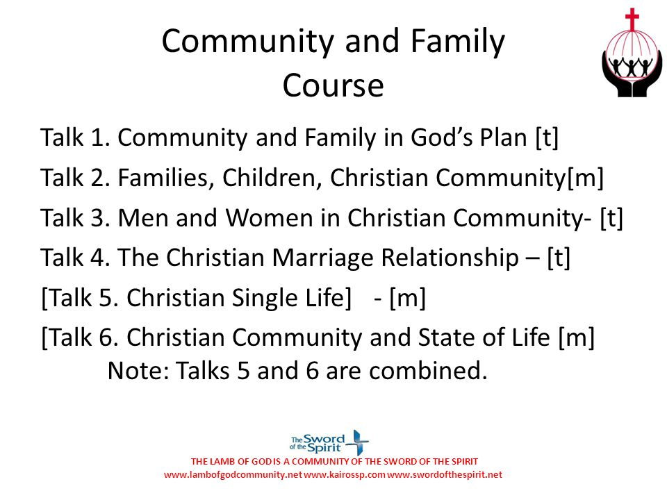 Community and Family Course