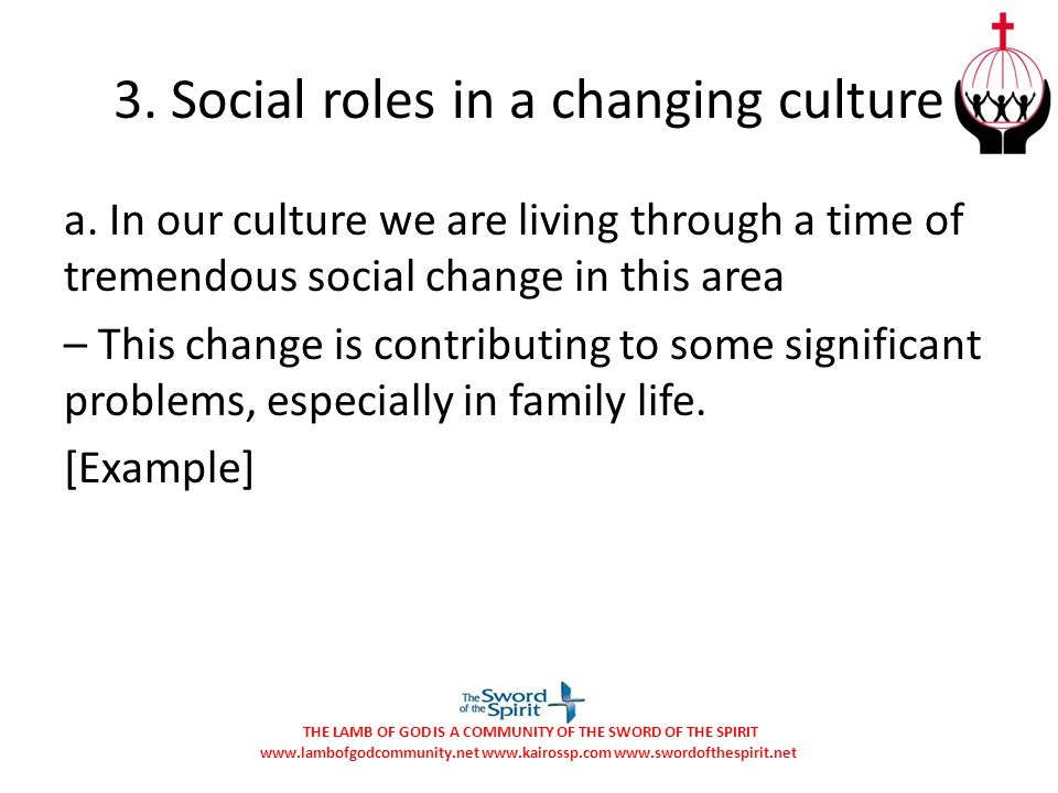 3. Social roles in a changing culture