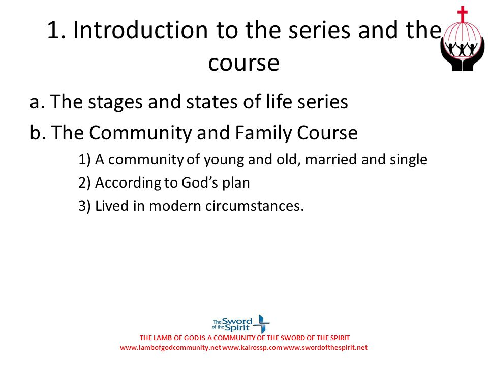 1. Introduction to the series and the course