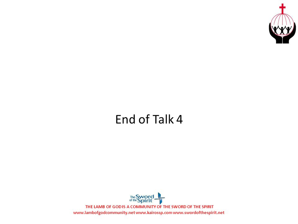 End of Talk 4
