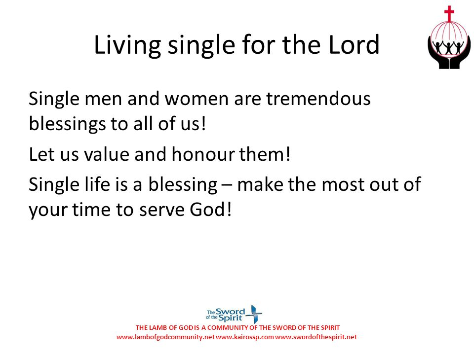 Living single for the Lord