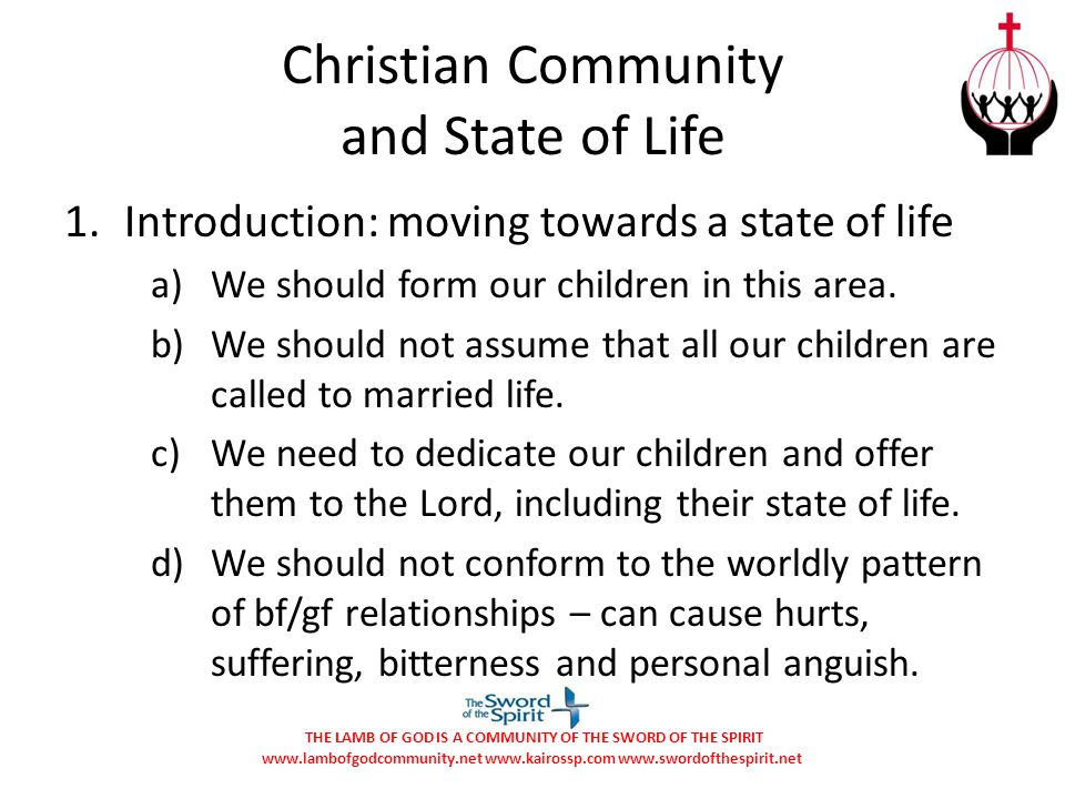 Christian Community and State of Life