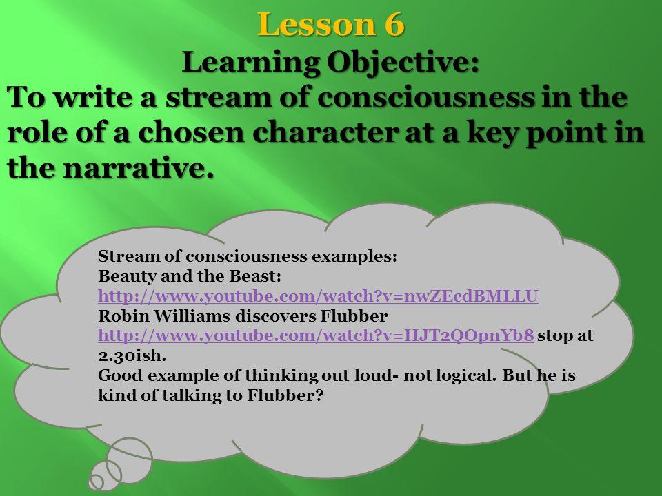 stream of consciousness examples in literature