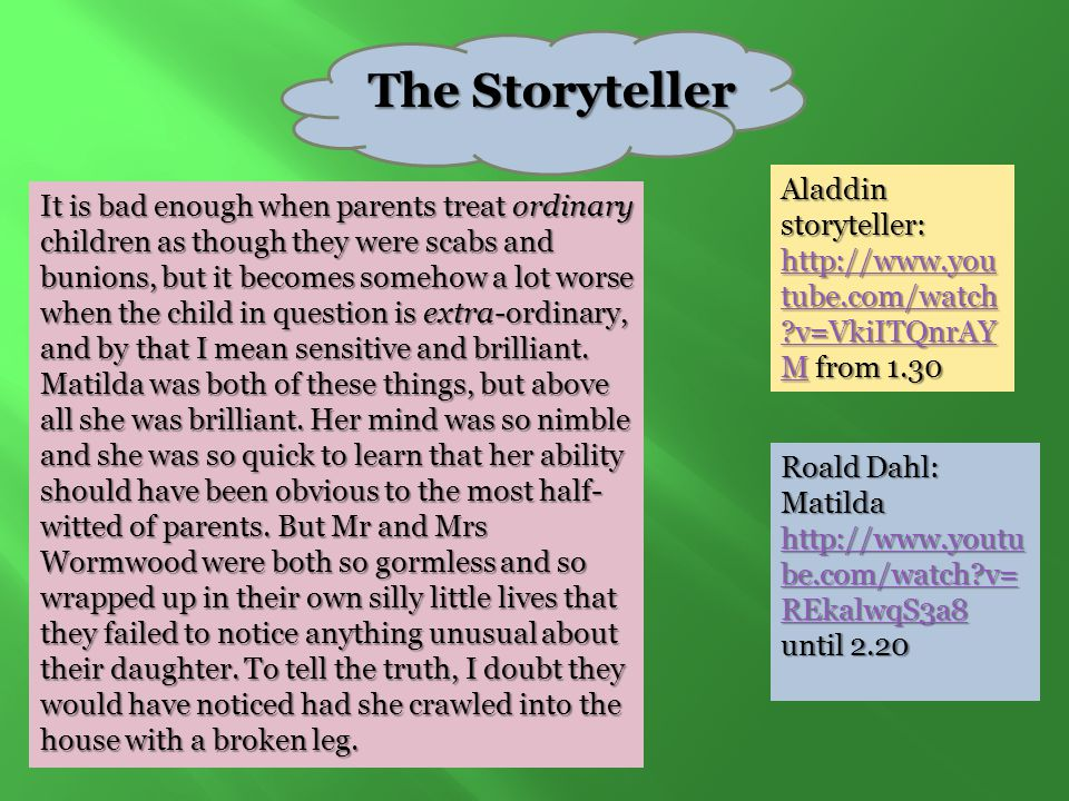 The Storyteller Aladdin storyteller: