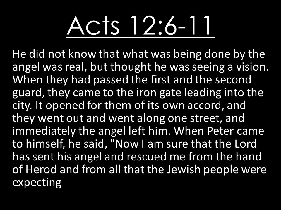 Acts 12:6-11