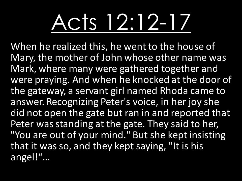 Acts 12:12-17