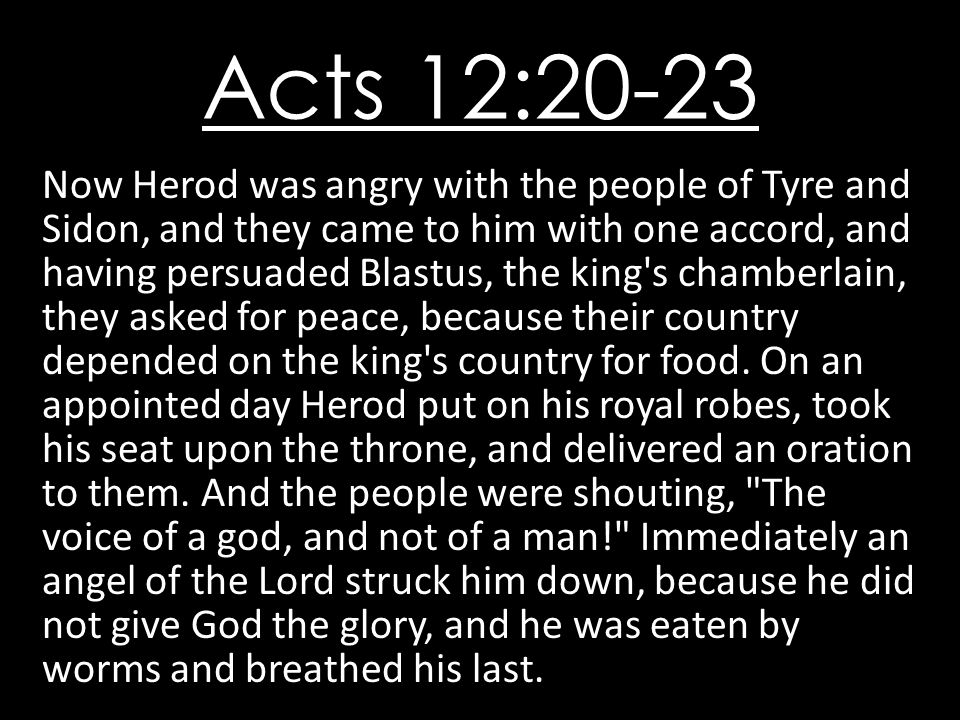 Acts 12:20-23