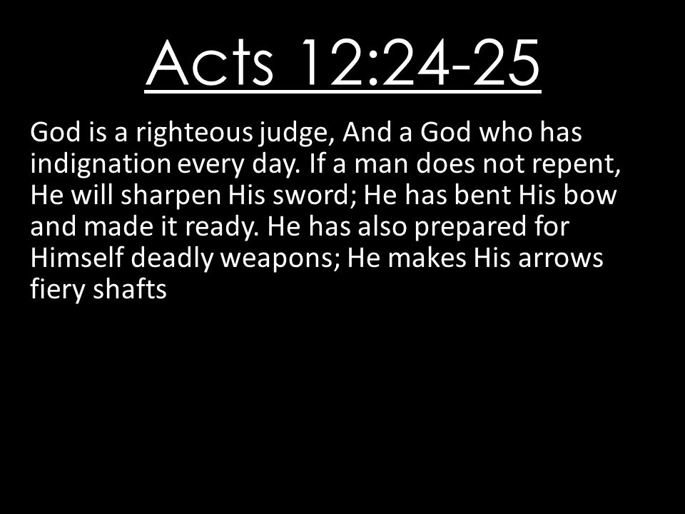 Acts 12:24-25