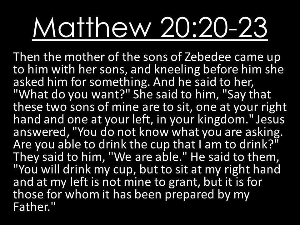 Matthew 20:20-23
